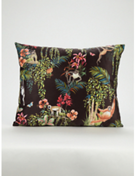 Cream Macramé Cushion by Asda