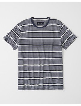 Striped Crewneck Tee by Abercrombie & Fitch