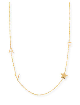 Maya Brenner Designs Personalized Mini Three Letter & Star Pendant Necklace by Maya Brenner Designs
