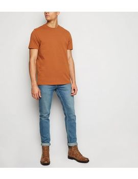 Rust Short Sleeve Crew T Shirt by New Look
