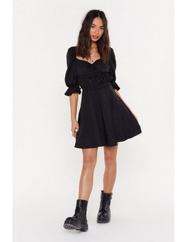 Boom Or Bust Puff Fit &Amp; Flare Dress by Nasty Gal