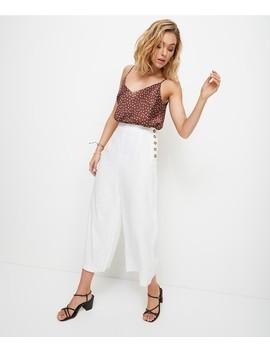 Side Button Linen Pant by Sportsgirl