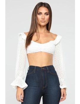 Festive Crop Top   White by Fashion Nova