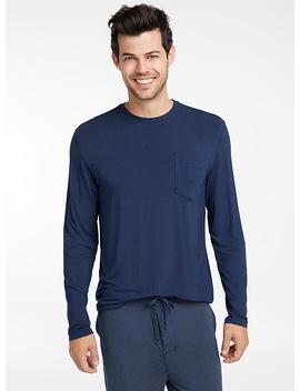 Le T Shirt Détente Modal Uni by Le 31