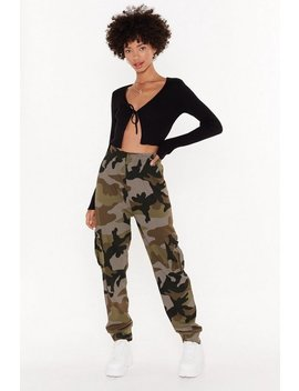 Nowhere To Be Seen Camo Cargo Joggers by Nasty Gal