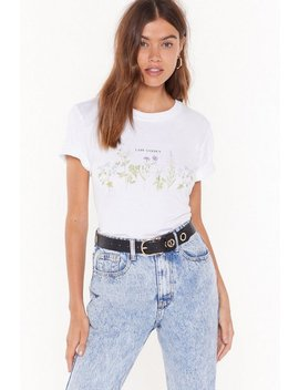 Lady Garden Floral Graphic Tee by Nasty Gal