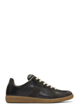Black & Brown Replica Sneakers by Maison Margiela