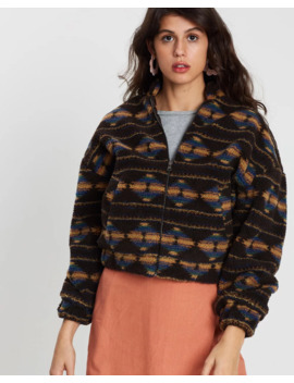 Aztec Teddy Batwing Jacket by Cotton On