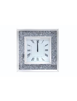 Acme Furniture Noralie Wall Clock, Mirrored by Acme Furniture