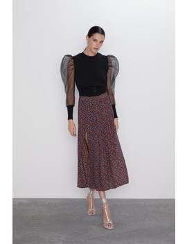 Floral Printslit Skirt Must Havewoman by Zara
