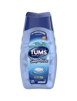 Tums Extra Strength Antacid Smoothies Peppermint Chewable Tablets 140ct by Tums