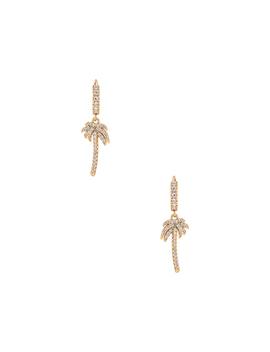 Palm Tree Huggie Earrings by Ettika