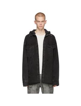 Black Oversized Denim Jacket by Juun.J