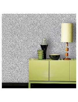 Devine Color Speckled Dot Peel &Amp; Stick Wallpaper   Black by Black