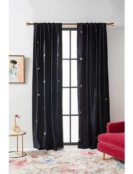 Embroidered Velvet Wyatt Curtain by Anthropologie