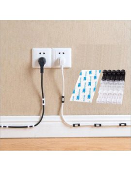 Фиксаторы проводов кабелей Органайзер настольный и зажимы для рабочего стола шнур управления держатель Usb зарядный кабель для передачи данных намотки by Ali Express.Com