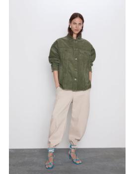 Corduroy Overshirt With Pockets Join Lifewoman Cornershops by Zara