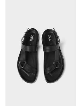 Black Strappy Sandals Special Sizes Shoes Man by Zara