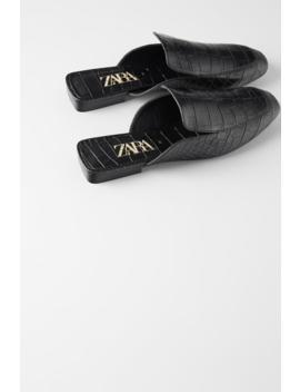 Flat Animal Print Mules Shoeswoman Shoes &Amp; Bags by Zara
