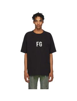 Black 'fg' T Shirt by Fear Of God