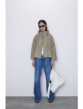 Hooded Oversized Jacket Jacketswoman by Zara