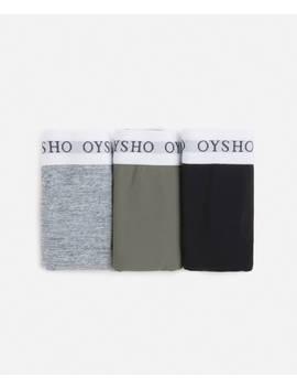 3 Culottes Classiques élastiques Logo by Oysho