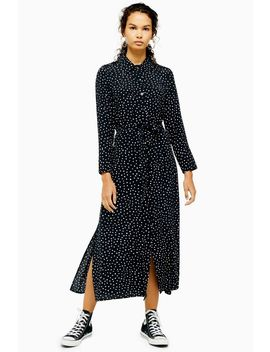 Spotty Open Back Shirt Dress by Topshop