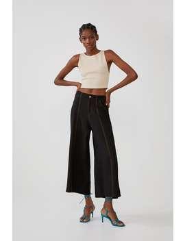 Textured Crop Top Sleeveless T Shirts Trf by Zara