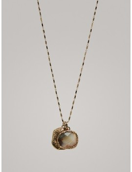 Necklace With Double Stone by Massimo Dutti