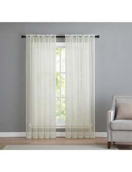 Vcny Infinity Sheer Rod Pocket Curtain Panel by Vcny