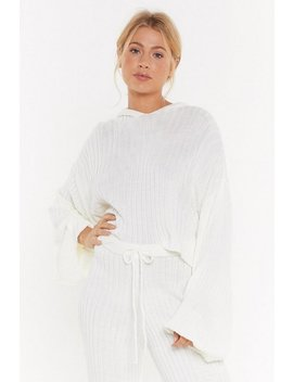 Give Knit A Rest Ribbed Lounge Hoodie by Nasty Gal