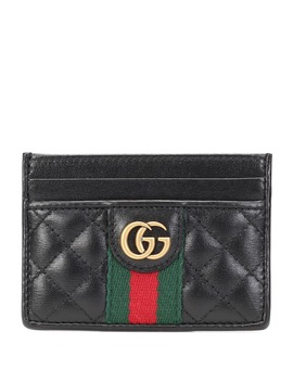 Double G Leather Card Holder by Gucci