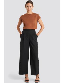 Elastic Detail Wide Pants Black by Na Kd