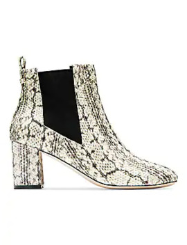 Nitasha Python Embossed Leather Ankle Boots by Cole Haan