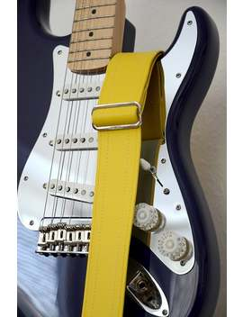 Runway Yellow Luggage Guitar Strap   Vegan by Etsy