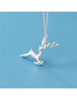 A'roch   925 Sterling Silver Deer Pendant Necklace by A'roch