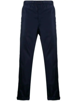Touch Strap Ankle Cropped Trousers by Prada