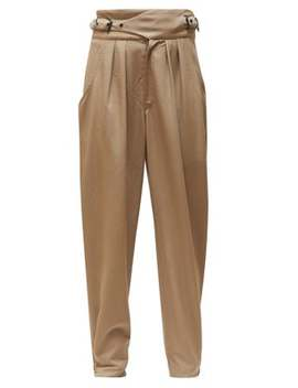 Pierson Buckled Waist Cotton Trousers by Isabel Marant