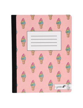 Yoobi, Composition Book, College Ruled   Pink Ice Cream Repeat by Yoobi