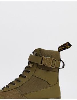Dr Martens Combs Tech Boot In Khaki by Dr Martens