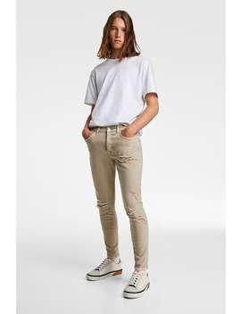 Jeans Skinny Rotos Jeanshombre by Zara
