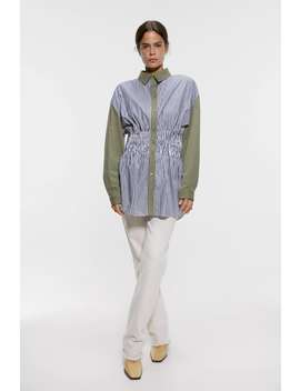 Contrasting Striped Shirt New Inwoman by Zara