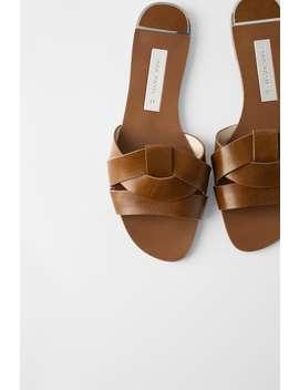 Pala De Pele Cruzada Ver Tudo Sapatos Mulher by Zara
