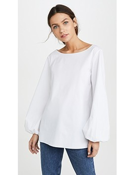 Shirred Sleeve Top by Theory