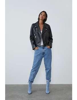 Leather Biker Jacket New Intrf by Zara