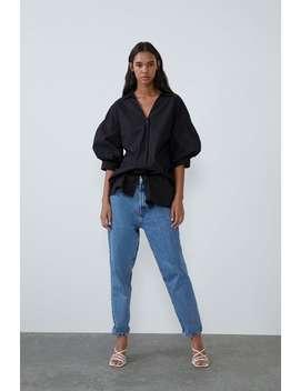 Long Poplin Shirt New Intrf by Zara