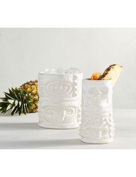 Tiki Ceramic Drinkware Collection by Pottery Barn