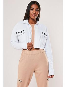 white-essential-embroidered-cropped-sweatshirt by missguided