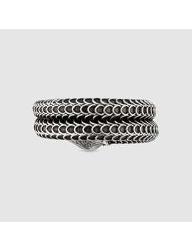 Gucci Garden Silver Snake Ring by Gucci