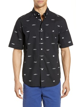 Smith Logo Pattern Slim Fit Woven Shirt by Rag & Bone